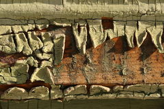 Textura de madeira rachada velha Fotos de Stock Royalty Free