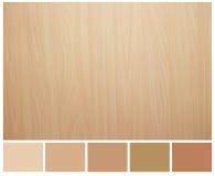 Textura de madeira sem emenda com guia da paleta colorida fotos de stock royalty free