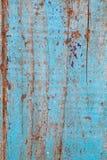 Textura de madeira velha azul da placa Elemento gráfico retro Imagens de Stock