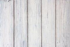 Textura de madeira velha branca das pranchas Imagens de Stock