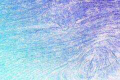 Textura de madeira velha ciana e roxa do inclinação Fotografia de Stock