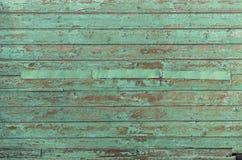 Textura de madeira velha das pranchas da textura verde Foto de Stock Royalty Free