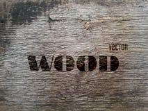 Textura de madeira velha do vetor Fotografia de Stock Royalty Free
