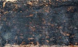 Textura de madeira velha queimada Imagens de Stock