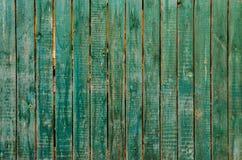 A textura de madeira verde velha Imagem de Stock