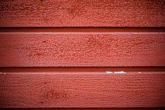 Textura de madeira vermelha da parede Fotos de Stock Royalty Free