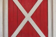 Textura de madeira vermelha e branca da janela Fotos de Stock Royalty Free