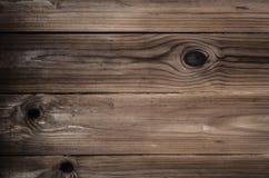 Textura de madera anudada del fondo del tablón Foto de archivo