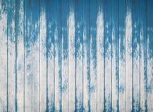 Textura de madera azul de los tableros ásperos de la cerca Foto de archivo libre de regalías