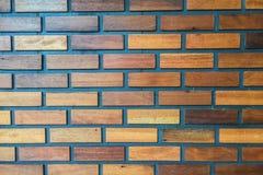 Textura de madera como modelo del ladrillo Imágenes de archivo libres de regalías