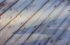 Textura de madera con el fondo de la Navidad de la nieve Feliz Año Nuevo Fotos de archivo libres de regalías