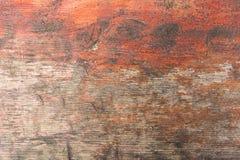 Textura de madera con los rasguños y las grietas Imágenes de archivo libres de regalías