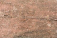 Textura de madera con los rasguños y las grietas Fotos de archivo libres de regalías
