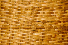 Textura de madera de bambú, trabajo hecho a mano tailandés Imagen de archivo