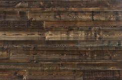Textura de madera de Brown los paneles viejos del fondo Imagen de archivo