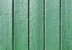 Textura de madera de la pared Pintura verde Imagenes de archivo