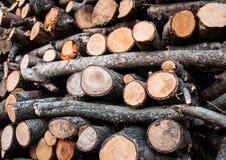 Textura de madera de la pila Imágenes de archivo libres de regalías