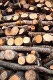Textura de madera de la pila Fotografía de archivo libre de regalías