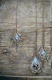 Textura de madera decorativa con las gotitas artificiales Fotografía de archivo