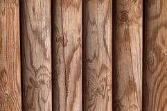 Textura de madera del fondo de la cerca del panel del pino brillante Foto de archivo libre de regalías
