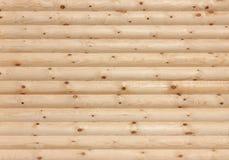 Textura de madera del fondo de la pared de los registros Fotos de archivo