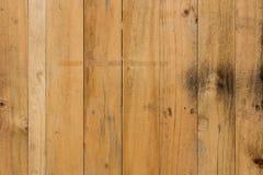 Textura de madera del marrón del tablón Imagen de archivo