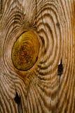 Textura de madera del nudo Fotografía de archivo