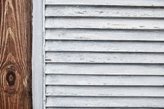 Textura de madera del obturador fotografía de archivo