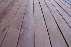 Textura de madera del piso de la cubierta Imagen de archivo libre de regalías