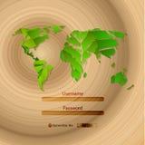 Textura de madera del vector Imágenes de archivo libres de regalías