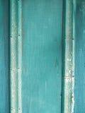 Textura de madera del viejo verde del grunge Fotos de archivo
