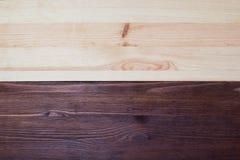 Textura de madera doble del pino y de la nuez Foto de archivo libre de regalías