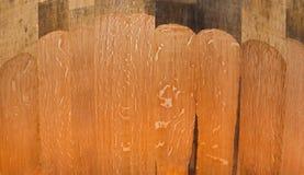 Textura de madera en el interior del barril del roble para el vino Imágenes de archivo libres de regalías
