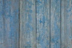 Textura de madera lamentable azul de viejos tableros Fotografía de archivo libre de regalías