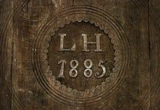 Textura de madera marrón del vintage/tallado Imagenes de archivo