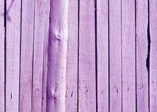 Textura de madera púrpura de la cerca Imagen de archivo
