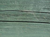 Textura de madera pintada verde Fotos de archivo libres de regalías