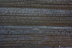 Textura de madera quemada Fotografía de archivo