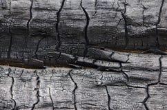 Textura de madera quemada Tablero carbonizado Imagen de archivo