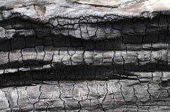 Textura de madera quemada Tablero carbonizado Foto de archivo