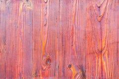 Textura de madera roja con los modelos naturales Imagen de archivo
