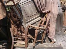 Textura de madera y de la lona de los apoyos de la etapa Fotografía de archivo