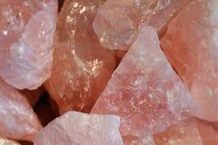 Textura de mineral de quartzo de Rosa Fotografia de Stock