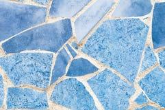 Textura de mosaico azul Imagen de archivo libre de regalías