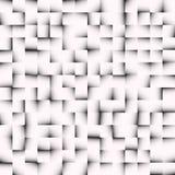 Textura de mosaico blanco y negro, modelo de mosaico Inconsútil repea ilustración del vector