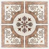 Textura de mosaico da mármore-pedra de Brown (Elevação res ) fotografia de stock royalty free
