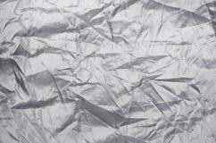 Textura de nylon da folha do enrugamento Imagem de Stock