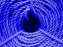 Textura de nylon de la cuerda del color Foto de archivo libre de regalías