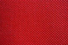 Textura de nylon vermelha do teste padrão da tela imagens de stock royalty free