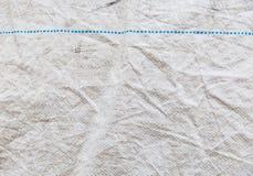 Textura de nylon y Blue Line Fotografía de archivo